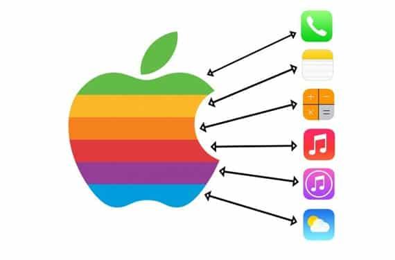 logo apple ios7 ¿Los colores de algunos iconos de iOS 7 están inspirados en el logo original de Apple?