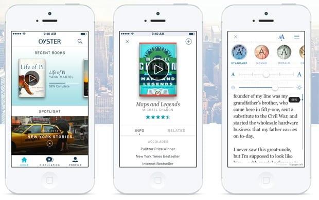oyster Oyster, una app con suscripción que te permite leer todos los libros que quieras
