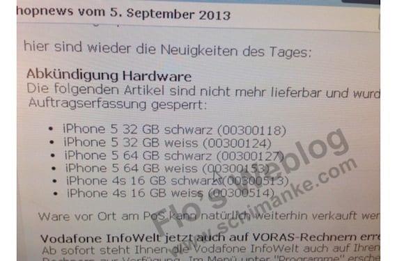 vodafone9513 Vodafone Alemania dejará de vender el iPhone 5 de 32GB y 64GB