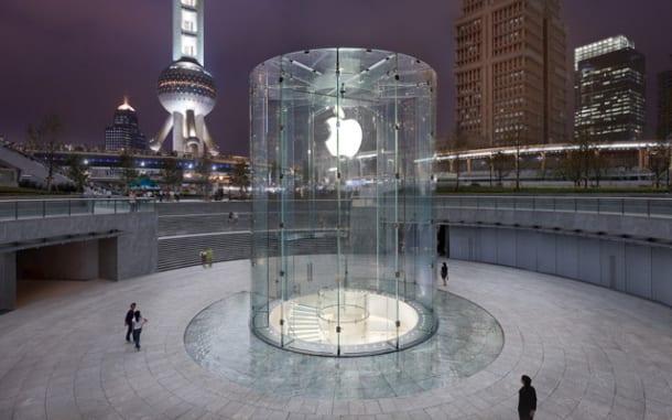 apple shanghai tienda Apple patenta el cilindro acristalado de su tienda en Shanghai