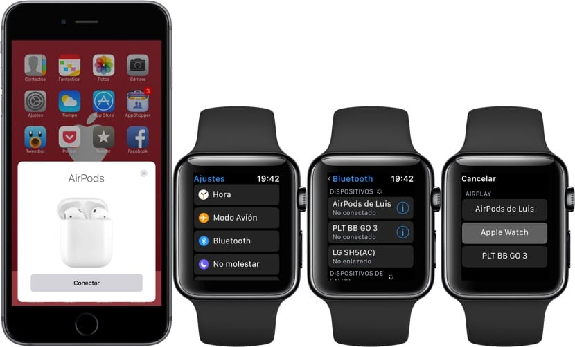 Emparejar auriculares Bluetooth al Apple Watch