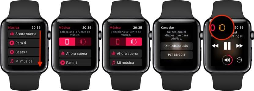 Escuchar música en el Apple Watch sin iPhone