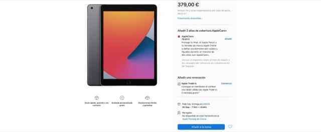 iPad 8 stock