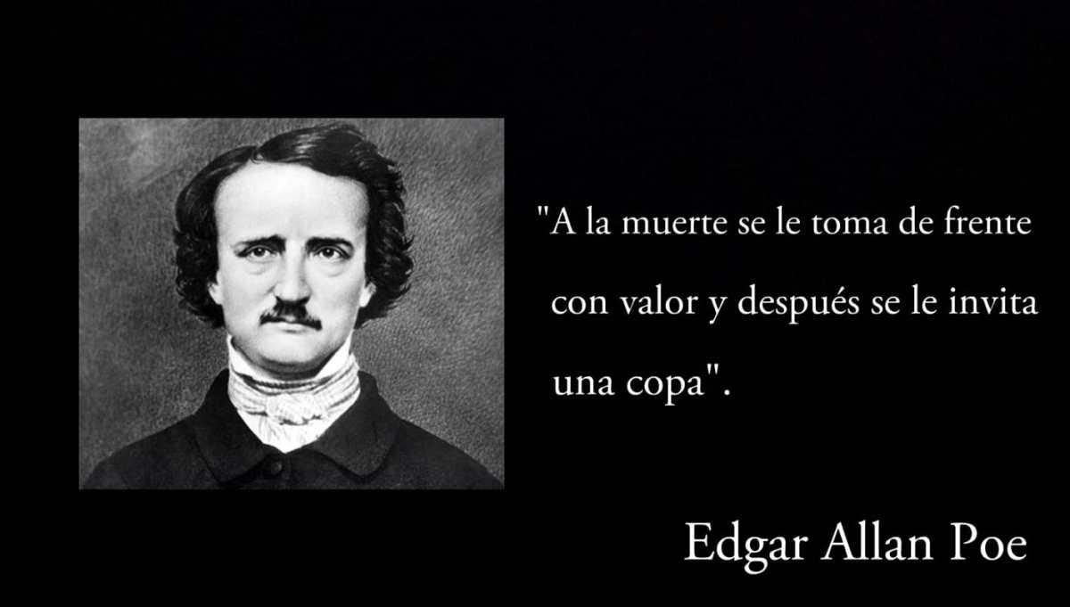 Frase de Edgar Allan Poe.