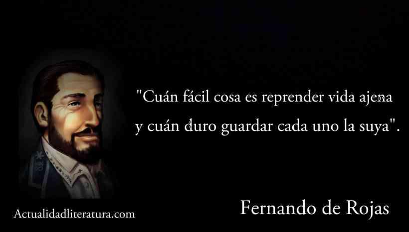 Frase de Fernando de Rojas.