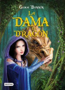 Portada del libro juvenil la dama y el dragón