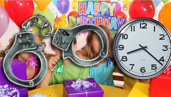 La cláusula establece que nadie podrá abandonar una fiesta infantil antes de permanecer tres horas