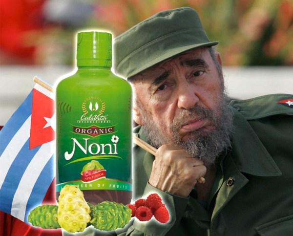 El líder cubano sí habría muerto, pero fué resucitado gracias al noni.