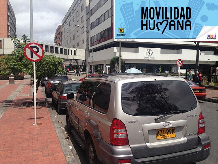 Zona autorizada para el estacionamiento, según última disposición.