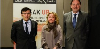 Consuelo Madrigal, fiscal general del Estado, entre los expertos organizadores de la presentación Speak Up / Forética