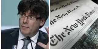 Collage Puigdemont y The New York Times