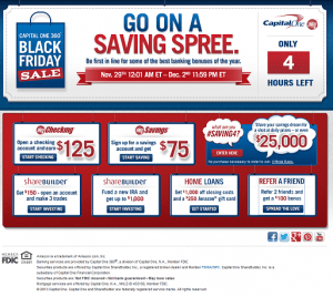 Capital One 360 Black Friday