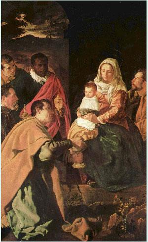 Cuadro de Diego Velázquez. La Adoración de los Reyes Magos. 1619