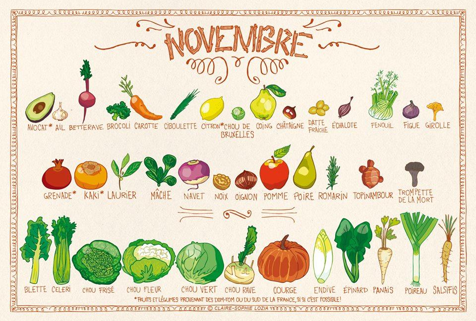 You are currently viewing Fruits et légumes de Novembre