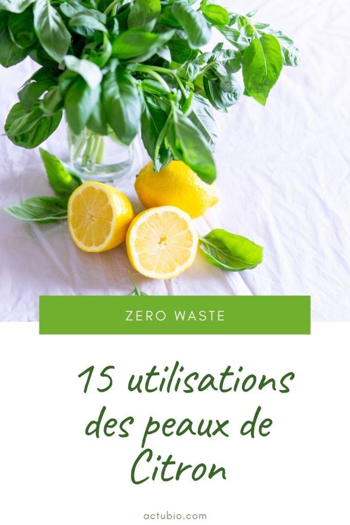 15 utilisations naturelles des peaux de citron en cuisine, ménage, beauté