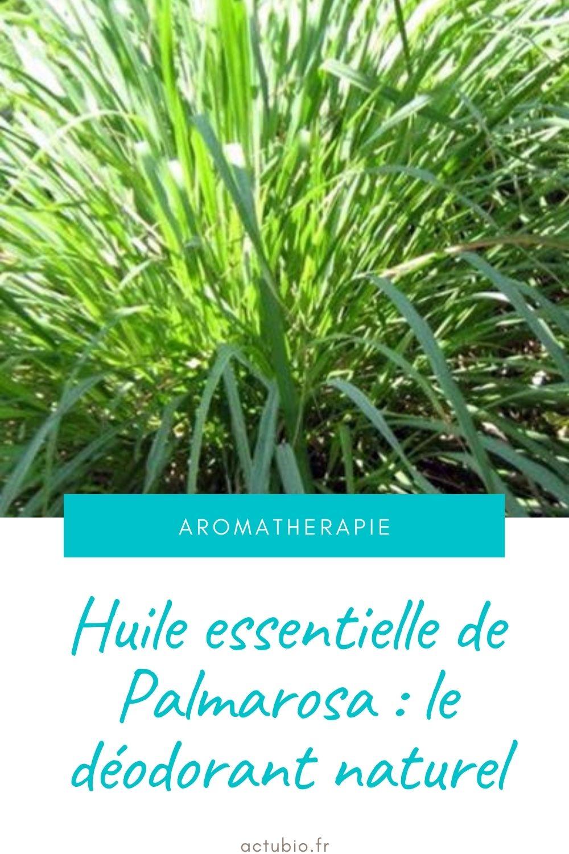 Danger des déodorants - Huile essentielle de Palmarosa