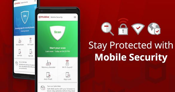 Mobile mcafee antivirus pour smartphones Android