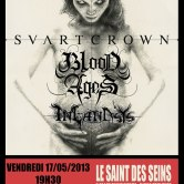 Svart Crown + Blood Ages + Inlandsys @ Saint des Seins