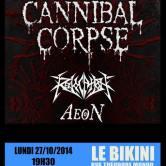 Cannibal Corpse + Revocation + Aeon + Guests @u Bikini