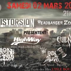 HIGHWAY + IRON FLESH + IRON SLAUGHT + EVILNESS @ L'école Des Filles de L'Isle Bouzon (32)