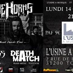 STONE HORNS + EVILNESS + DEATHMATCH @ L'Usine A Musique