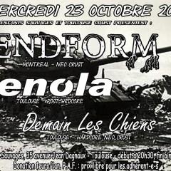 ENDFORM + ENOLA + DEMAIN LES CHIENS @ux Pavillons Sauvages
