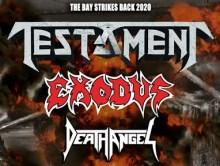 REPORT // TESTAMENT + EXODUS  + DEATH ANGEL @u Bikini le 29 février 2020 by Reaper