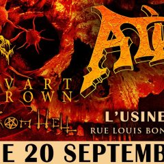 ATHEIST + CADAVER + SVART CROWN @ L'Usine A Musique