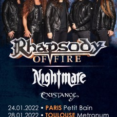 RHAPSODY OF FIRE + NIGHTMARE + MANIGANCE @u Metronum