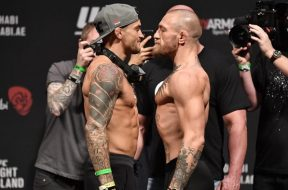 Conor-McGregor-Dustin-Poirier-weigh-in