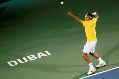 Roger au tournoi de Dubaï