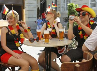 Supportrice Allemagne pour la Coupe du monde 2014