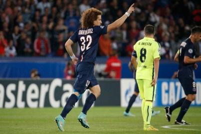 david Luiz lance la machine parisienne