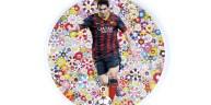 Tableau de Lionel Messi-portrait-Takashi-Murakami