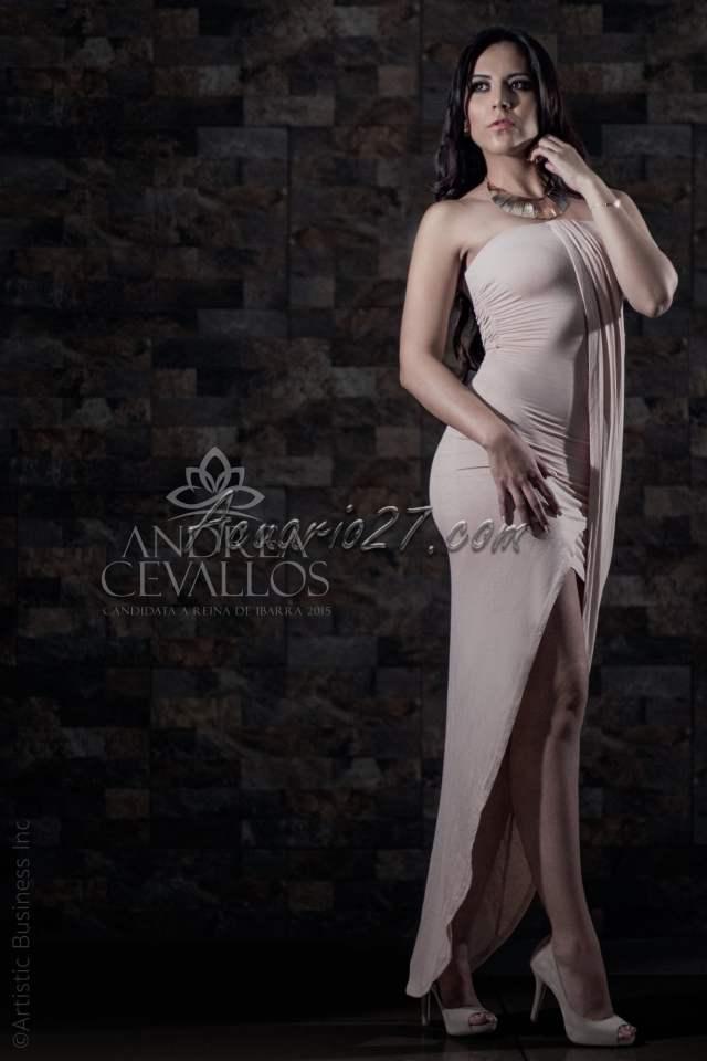 Andrea Cevallos, Reina de Ibarra 2015. Foto: Internet
