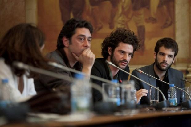 Miguel Gomes, Gonçalo Tocha e João Salaviza em audiência parlamentar