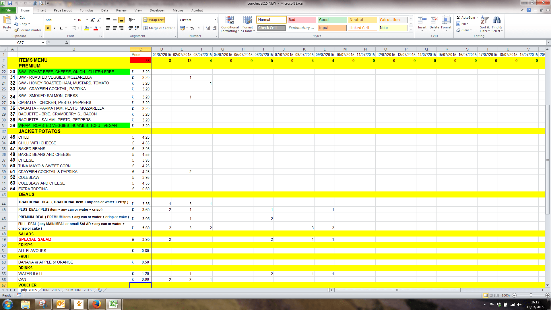 Printing From Excel