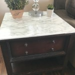 Faux Marble Table Diy A Cup Full Of Sass