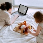 Tips fpr working from home with kids/acupofmegan