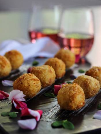 Risotto Balls & Rose