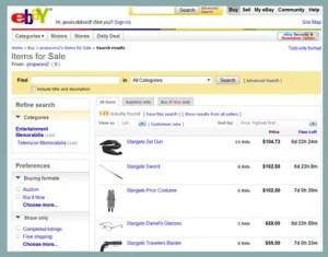 early eBay interface
