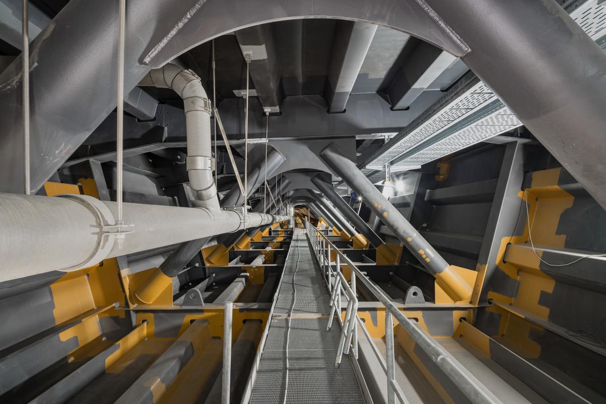 Innenleben einer Autobahnbrücke Stahlbau