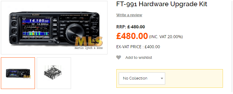 FT-991 Hardware Upgrade Kit - AD5GG