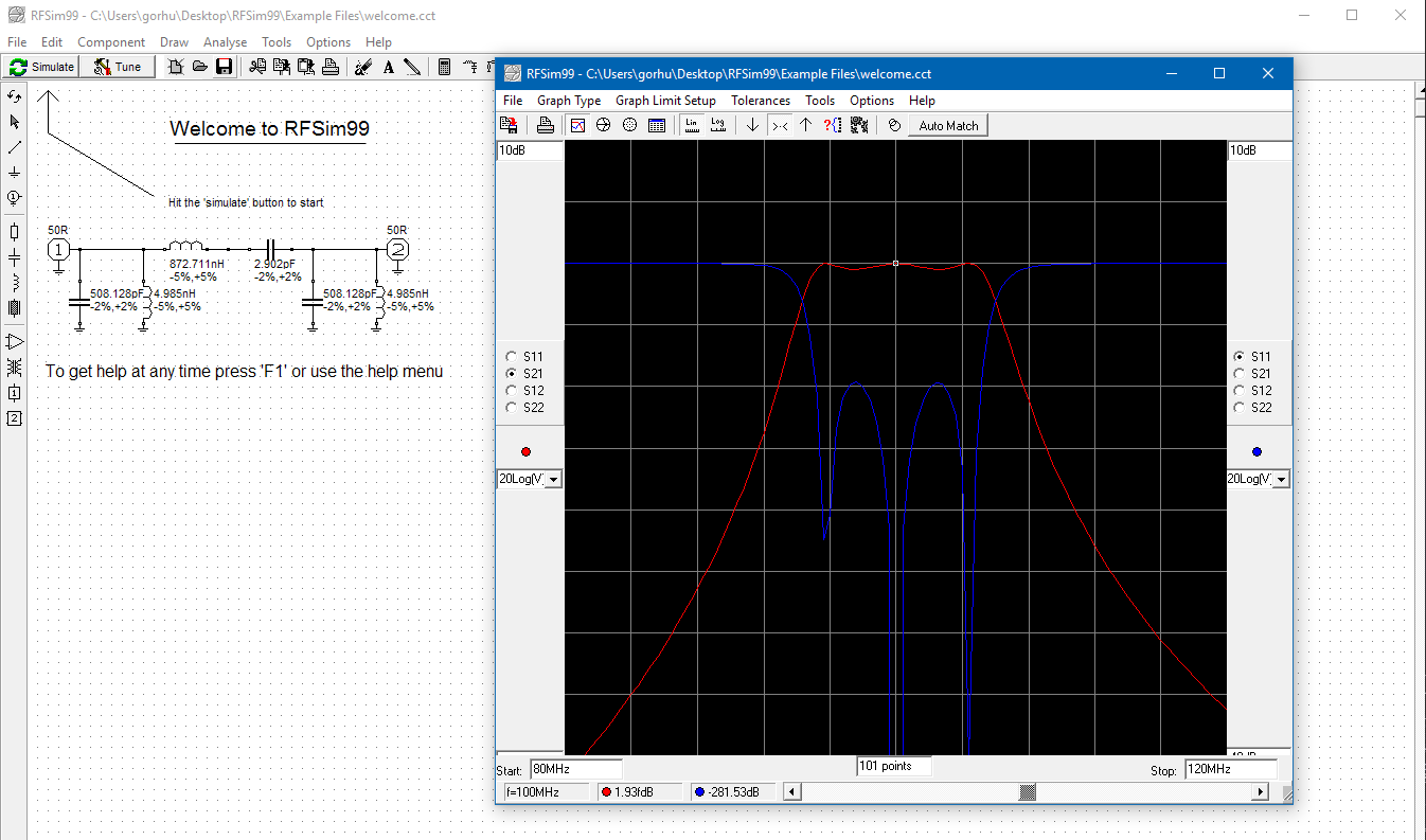 Free Rf Simulation Software Ad5gg Diagram Also Circuit Maker 2000 Download On Electric Schematic Yes It Works Windows 10