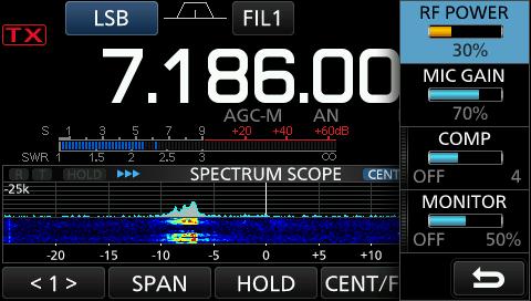 My IC-7300 TX Audio Setup - AD5GG