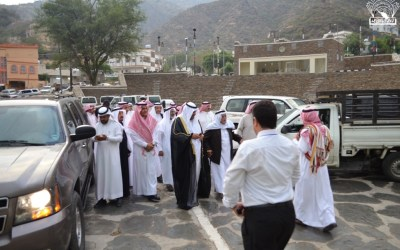 منتدى عبقر بأدبي جدة ولجنة رجال ألمع خلال افتتاحها :