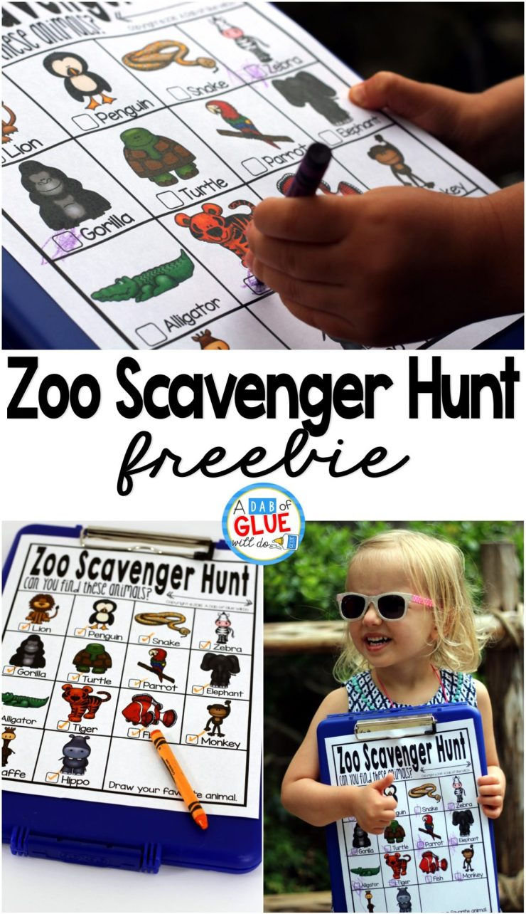 Zoo Scavenger Hunt Freebie is a perfect option for you kids to stay busy and have fun at the zoo on a field trip or a fun family outing! Grab this today!