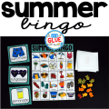 Summer BINGO is a great way to make teaching (or reviewing) the summer season fun! It is also a perfect game for the end of year or classroom parties. You can do Summer BINGO whole group or even place in a center for a small group of students to complete.