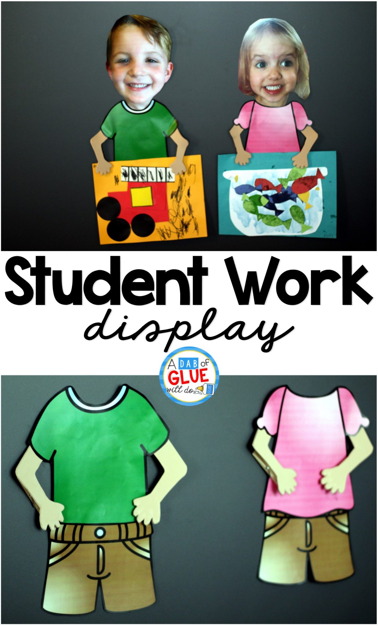 How To Display Student Work A Dab Of Glue Will Do