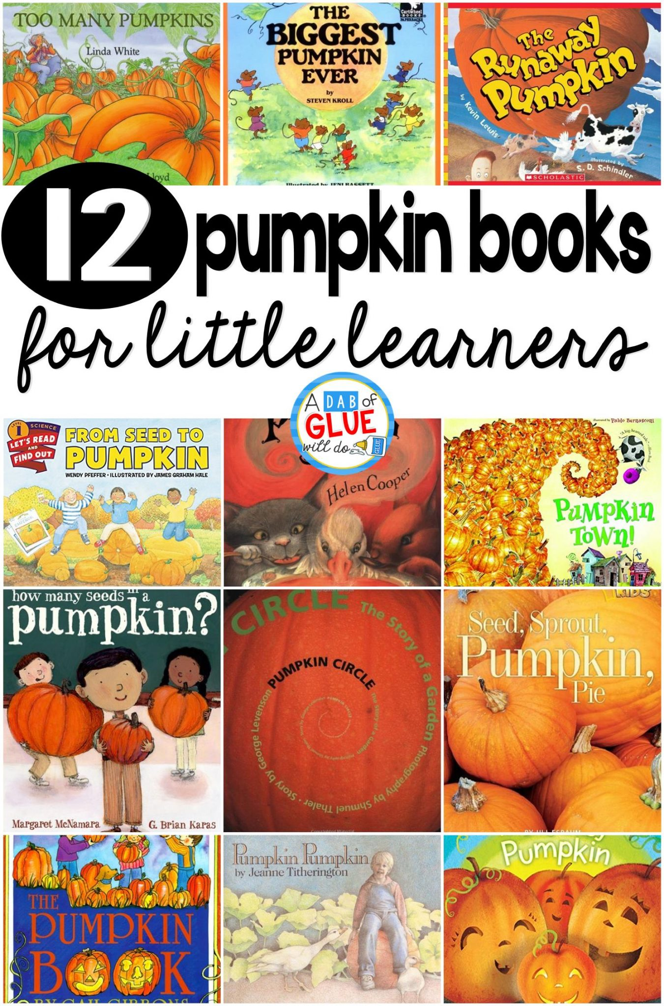 12 Pumpkin Books For Little Learners